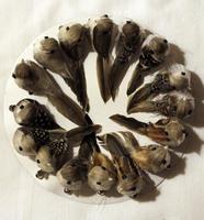 Перьевая птичка на металлической клипсе - RF-356007