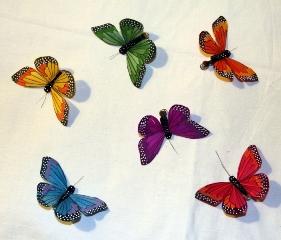 Бабочки для украшения букетов своими руками 26